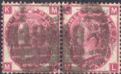 1867 3d Deep Rose SG102 Plate 6 'MK-ML'